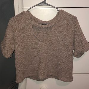 Love Culture Cropped Sweater Shirt